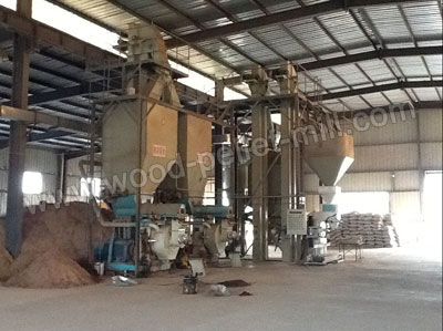 wood pellet packing system